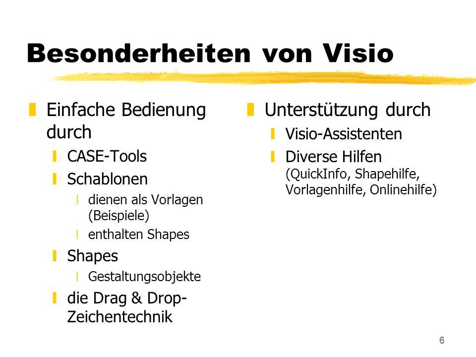 Besonderheiten von Visio