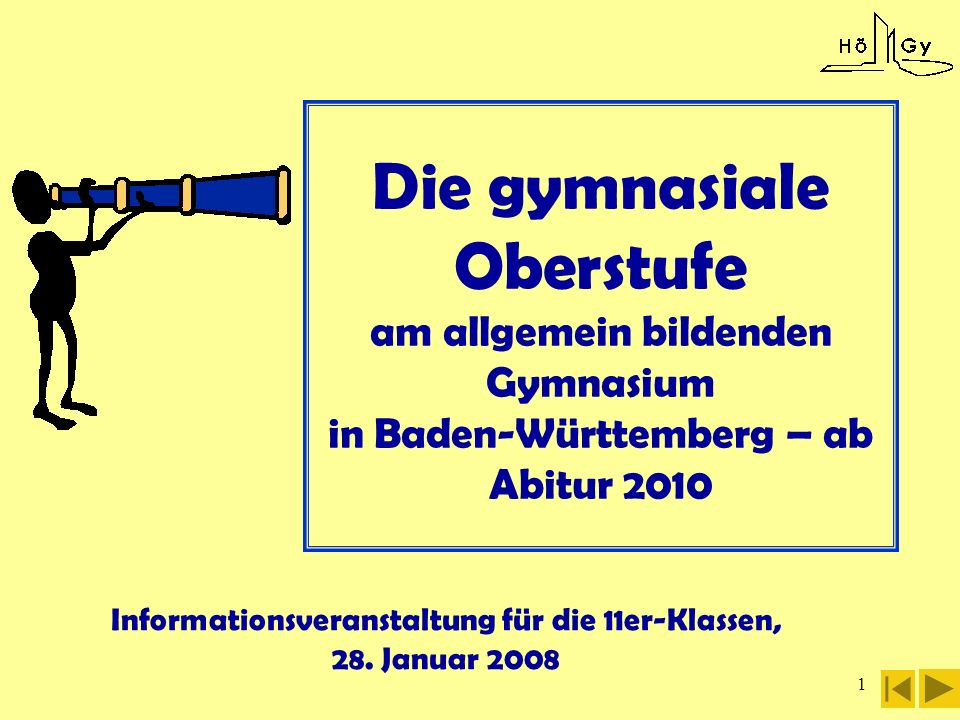 Informationsveranstaltung für die 11er-Klassen, 28. Januar 2008