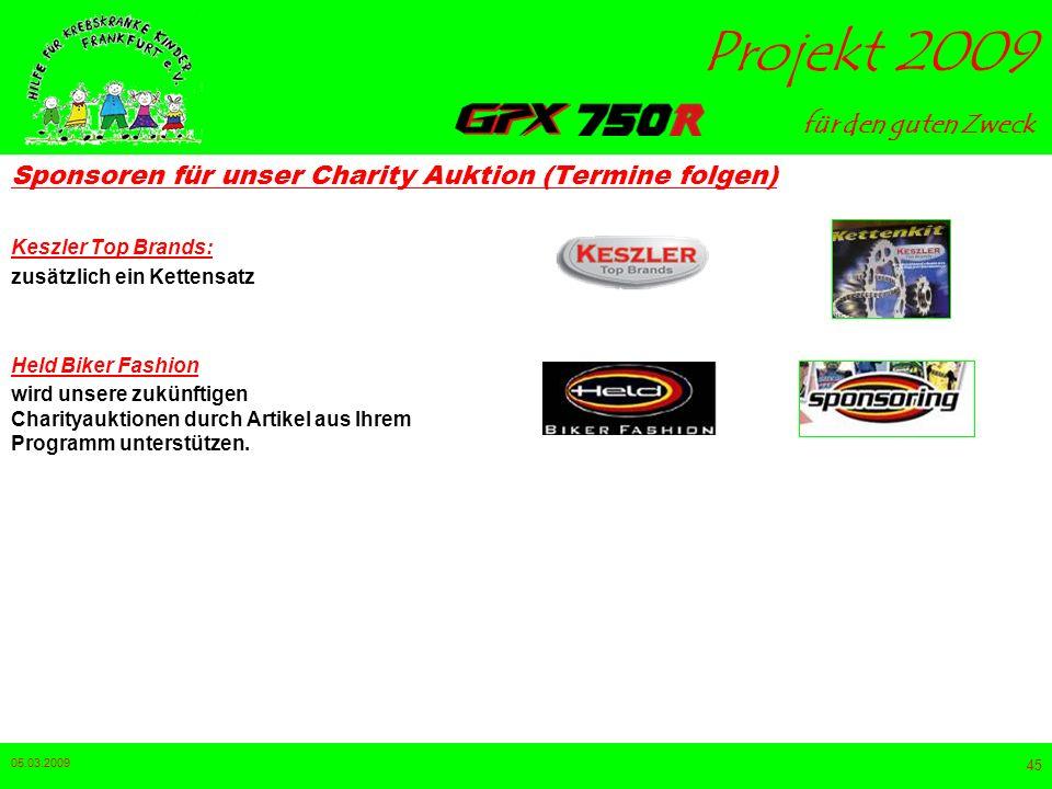 Sponsoren für unser Charity Auktion (Termine folgen)