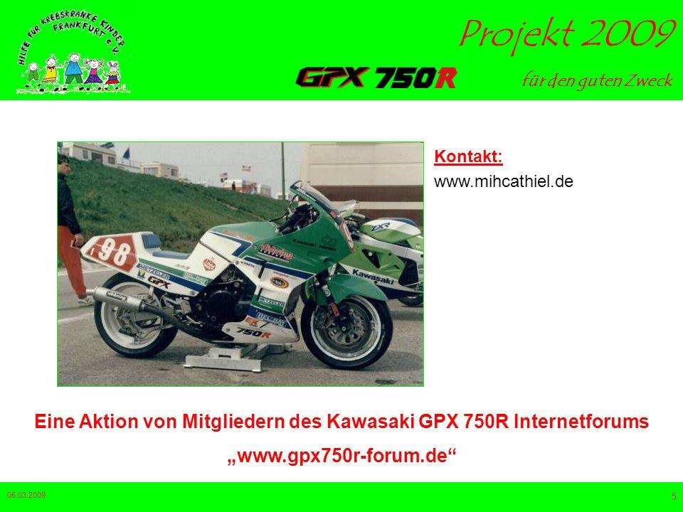 Eine Aktion von Mitgliedern des Kawasaki GPX 750R Internetforums