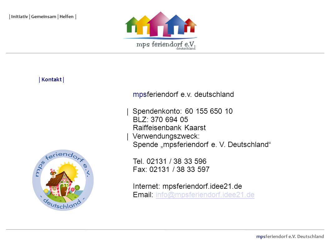 | Initiativ | Gemeinsam | Helfen | mpsferiendorf e.V. Deutschland