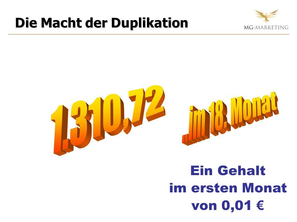 1.310,72 ..im 18. Monat Die Macht der Duplikation Ein Gehalt