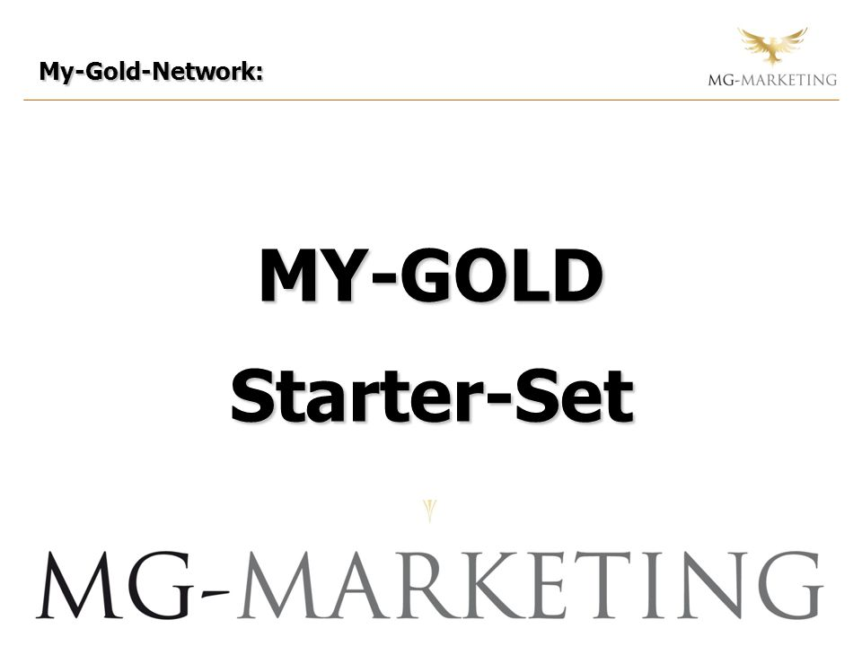 My-Gold-Network: MY-GOLD Starter-Set 44