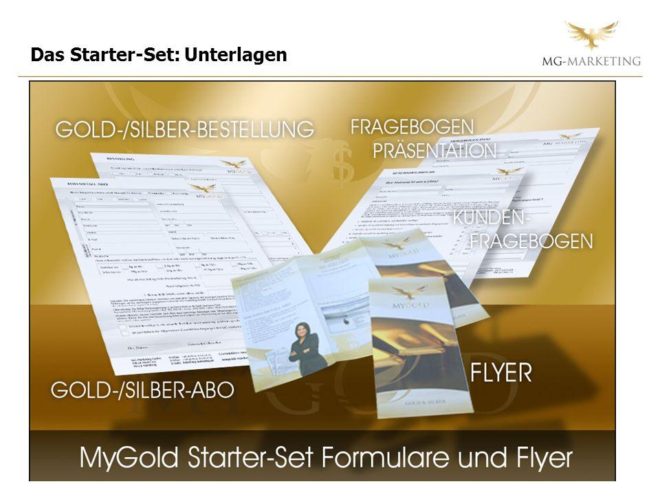 Das Starter-Set: Unterlagen