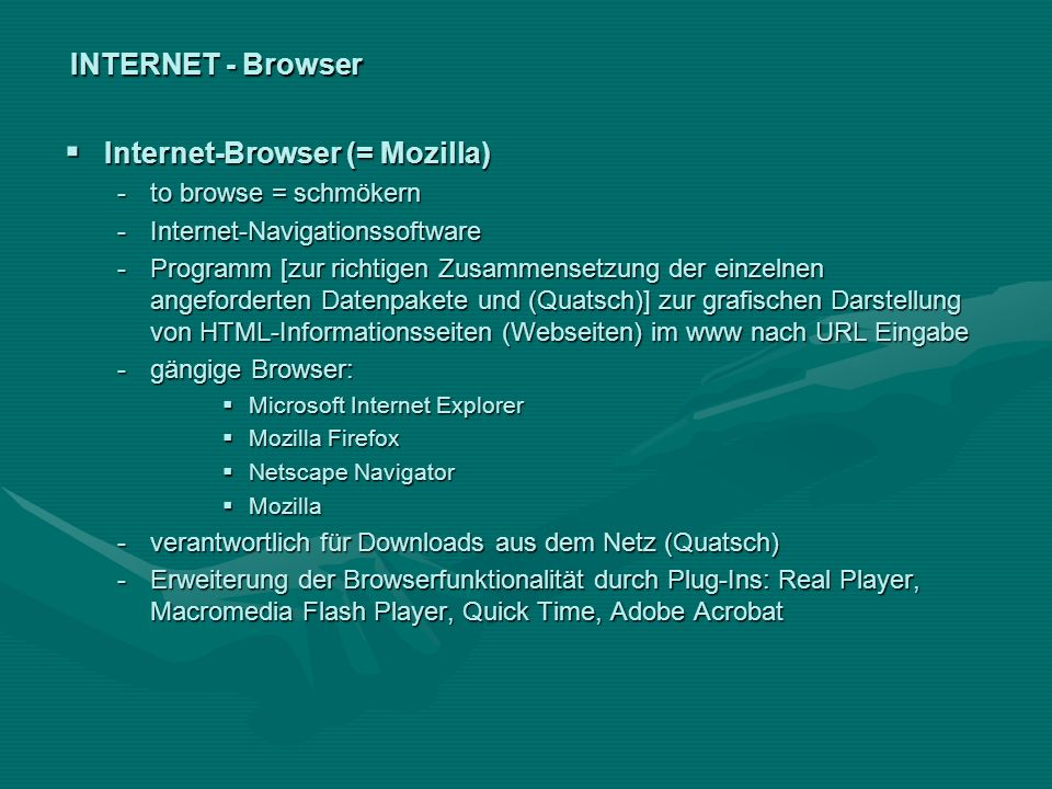 Internet-Browser (= Mozilla)
