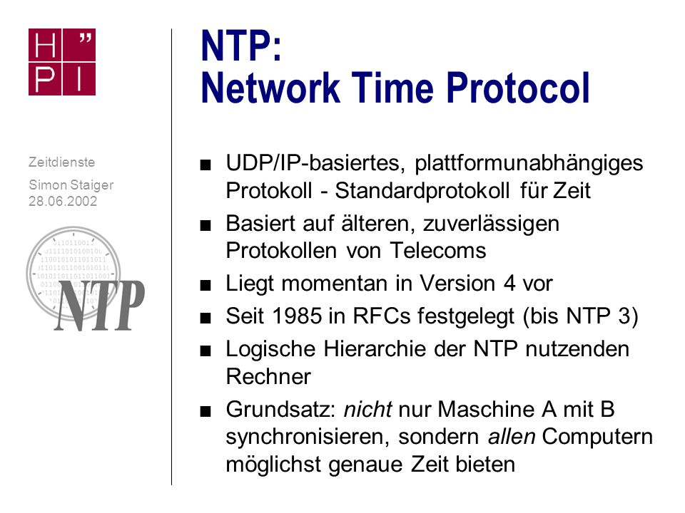 NTP: Network Time Protocol