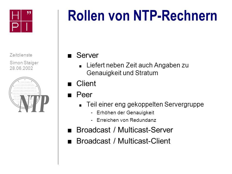 Rollen von NTP-Rechnern