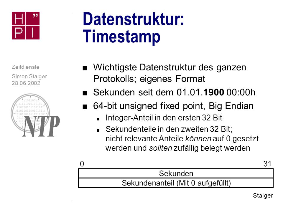 Datenstruktur: Timestamp