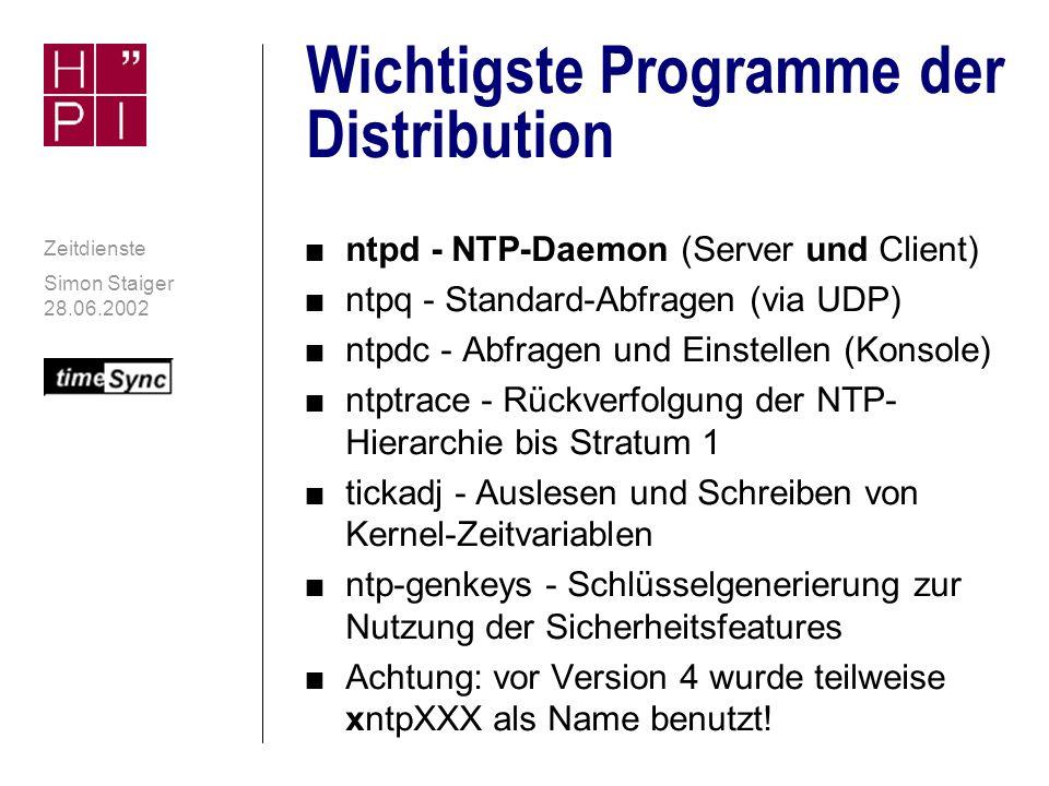 Wichtigste Programme der Distribution
