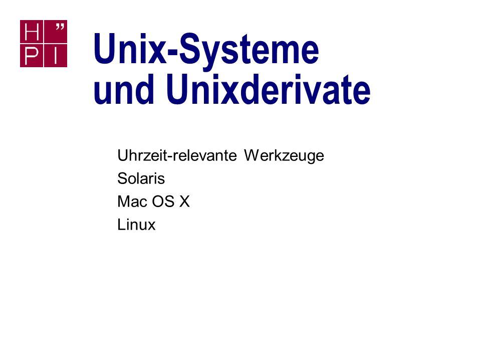 Unix-Systeme und Unixderivate