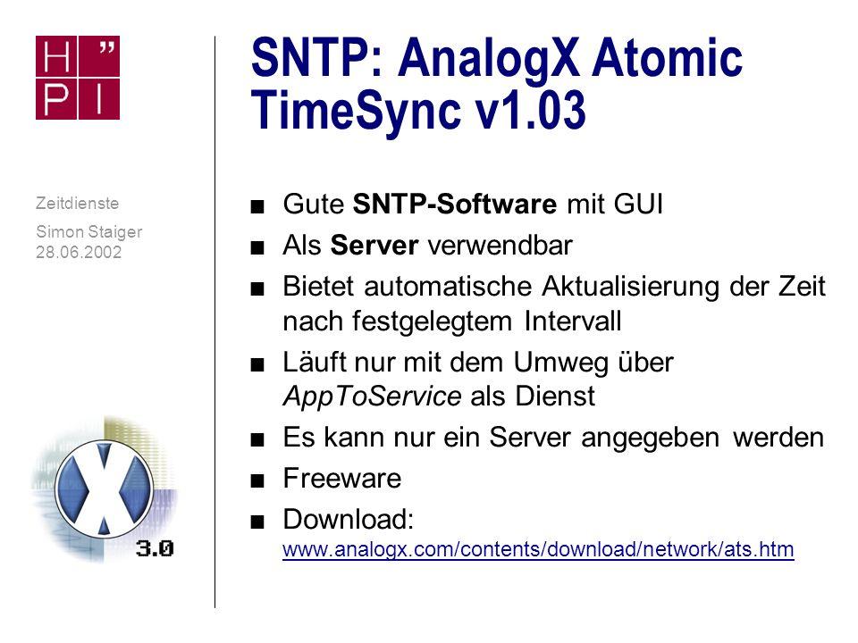 SNTP: AnalogX Atomic TimeSync v1.03