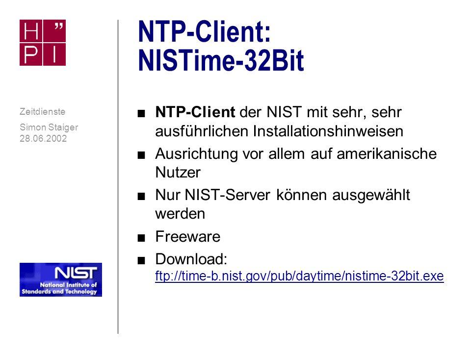NTP-Client: NISTime-32Bit