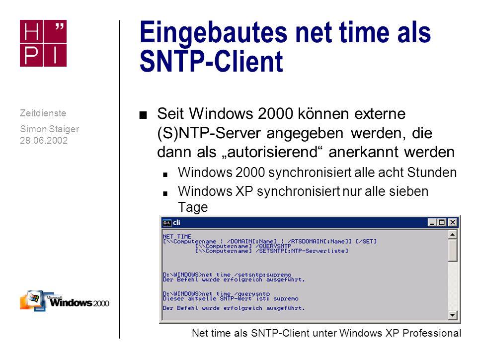 Eingebautes net time als SNTP-Client