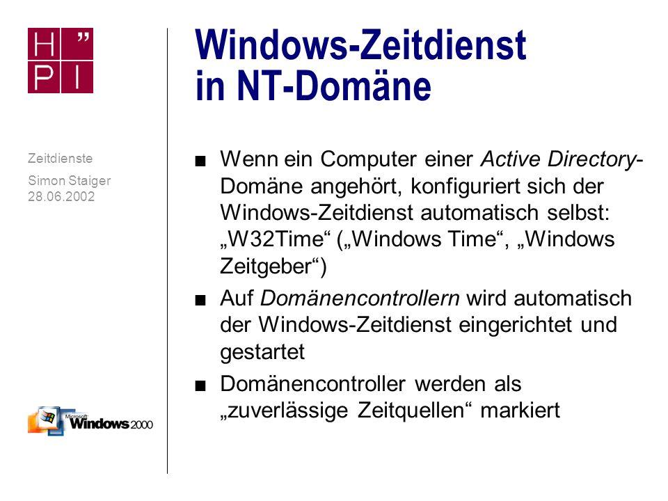 Windows-Zeitdienst in NT-Domäne