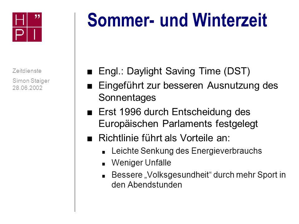 Sommer- und Winterzeit