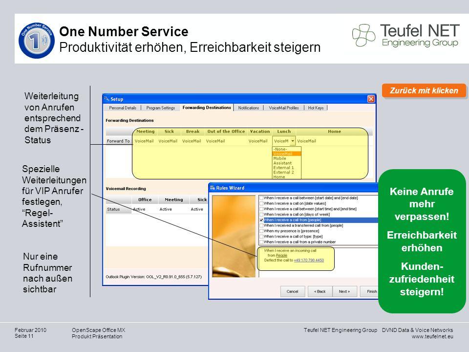 One Number Service Produktivität erhöhen, Erreichbarkeit steigern
