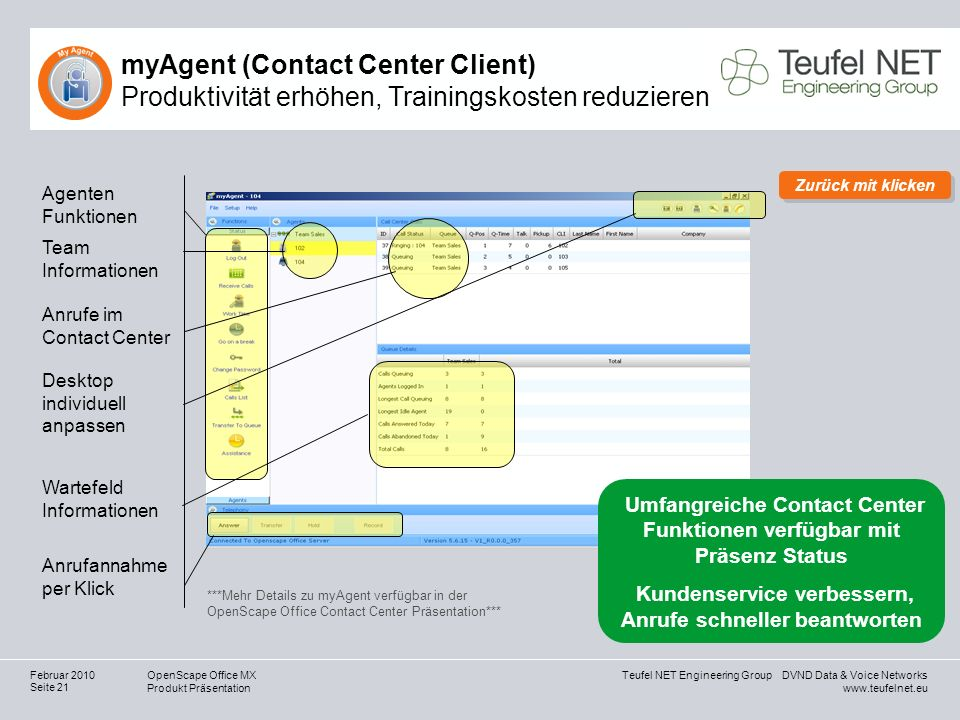 myAgent (Contact Center Client) Produktivität erhöhen, Trainingskosten reduzieren