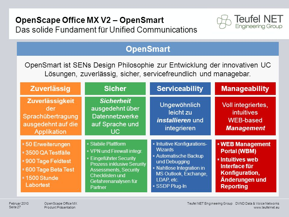 OpenScape Office MX V2 – OpenSmart Das solide Fundament für Unified Communications
