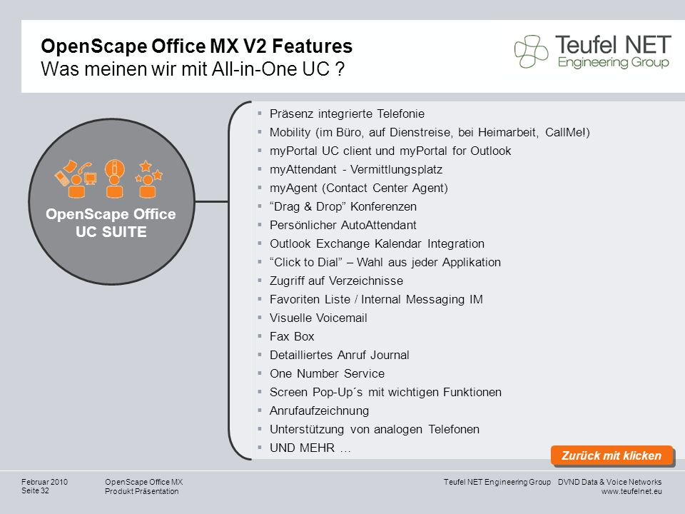 OpenScape Office MX V2 Features Was meinen wir mit All-in-One UC