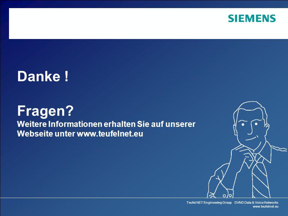 Danke ! Fragen Weitere Informationen erhalten Sie auf unserer Webseite unter www.teufelnet.eu