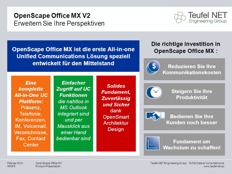 6 Ways To Turn Your House Into A Productive Home Environment: Cover Slide For OpenScape Office MX V1.5 Presentation