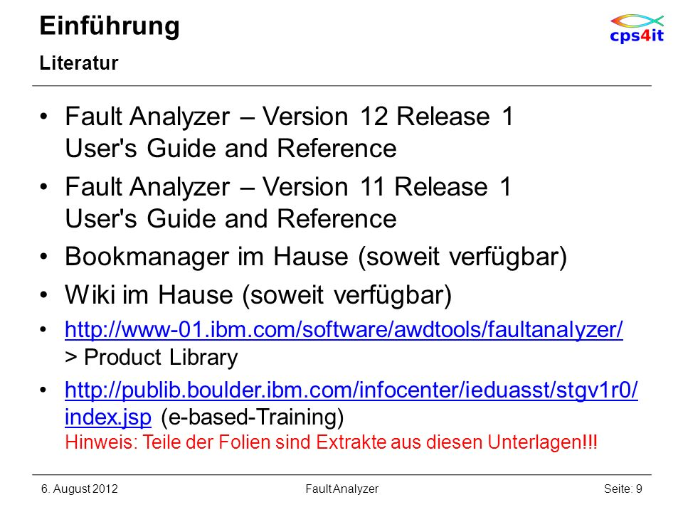 Fault Analyzer – Version 12 Release 1 User s Guide and Reference