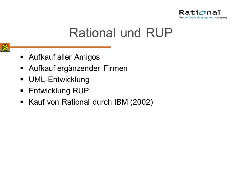 Rational und RUP Aufkauf aller Amigos Aufkauf ergänzender Firmen