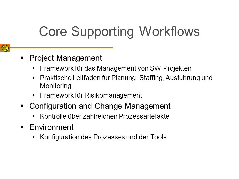 Core Supporting Workflows