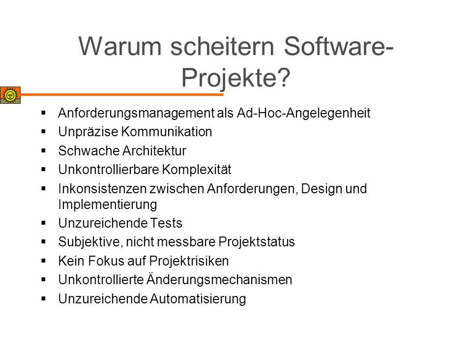 Warum scheitern Software-Projekte