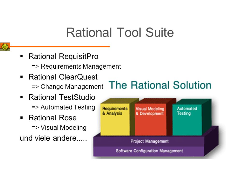 Rational Tool Suite Rational RequisitPro Rational ClearQuest