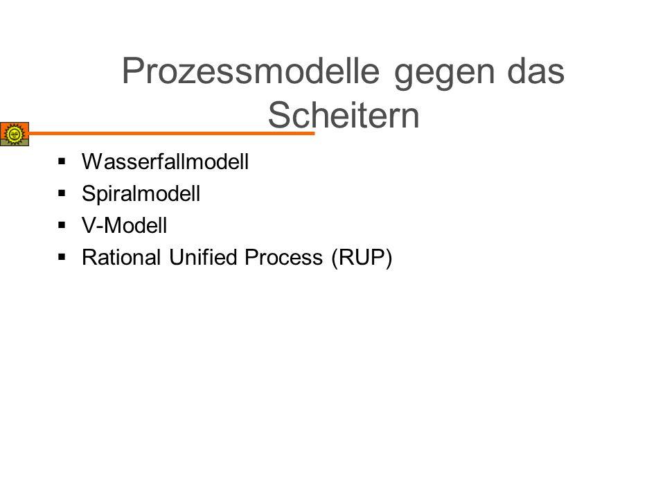 Prozessmodelle gegen das Scheitern