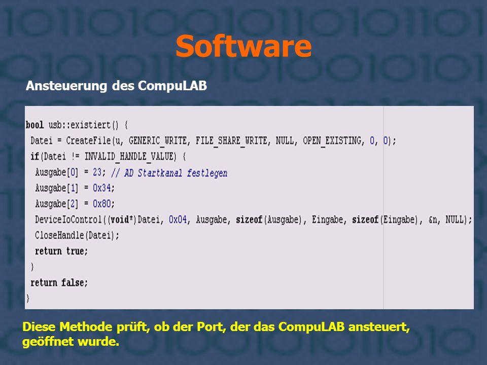Software Ansteuerung des CompuLAB