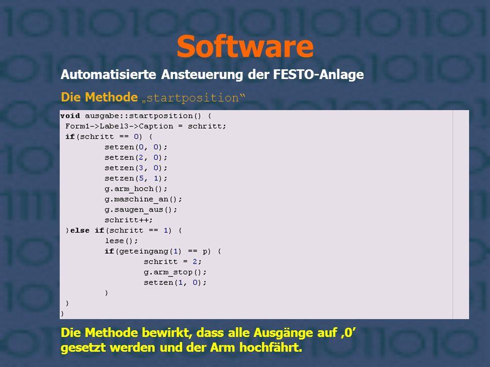 Software Automatisierte Ansteuerung der FESTO-Anlage