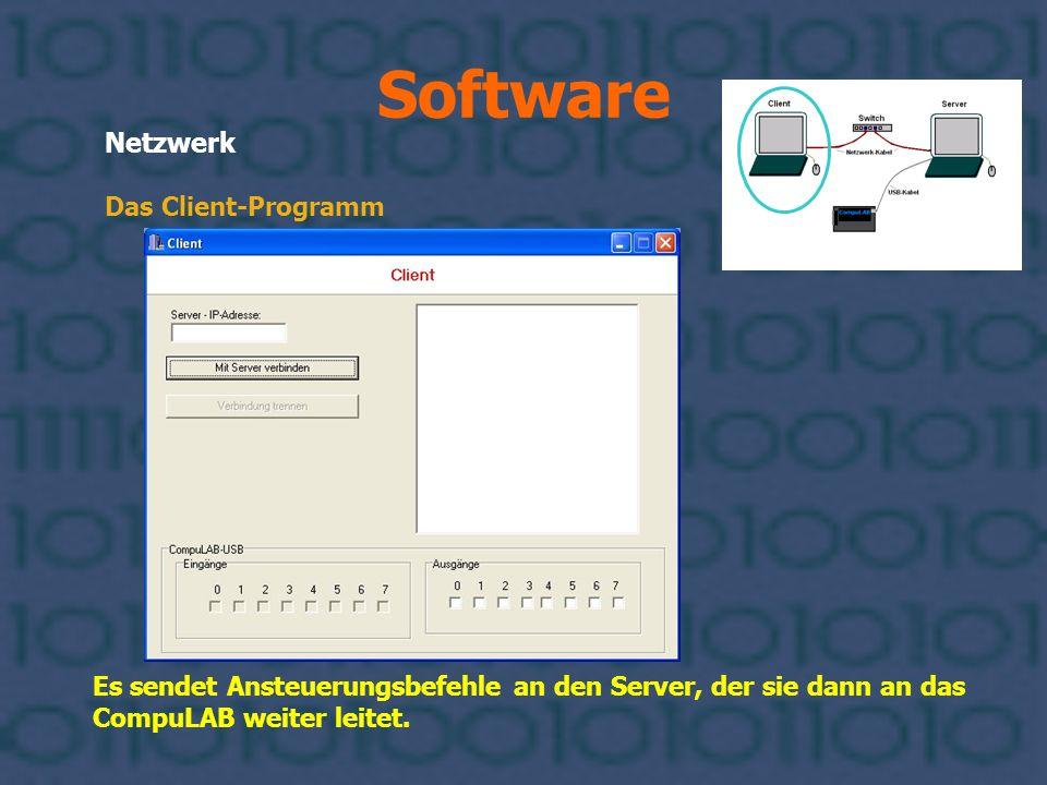 Software Netzwerk Das Client-Programm