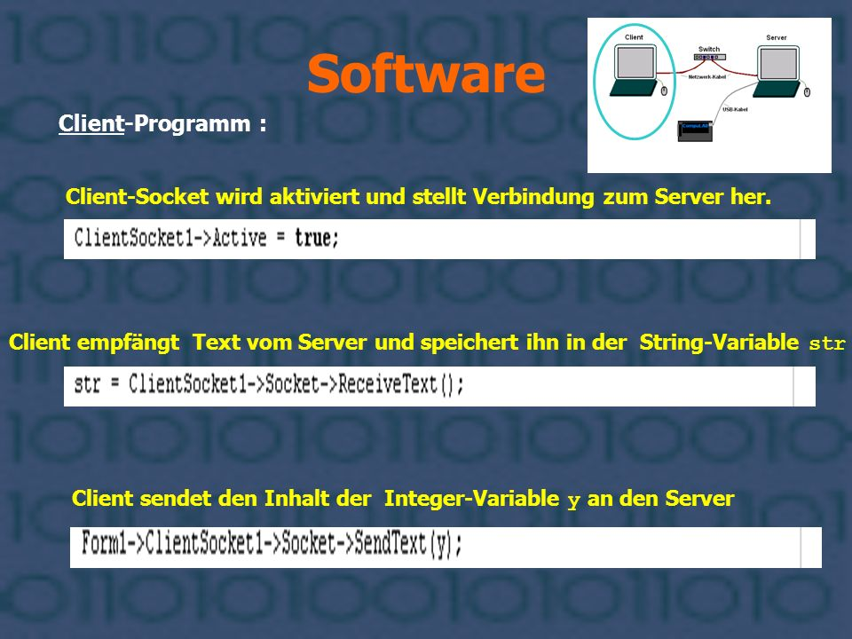Software Client-Programm :