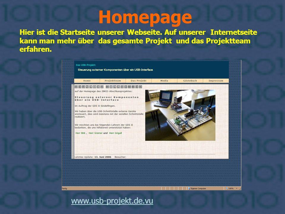 Homepage www.usb-projekt.de.vu