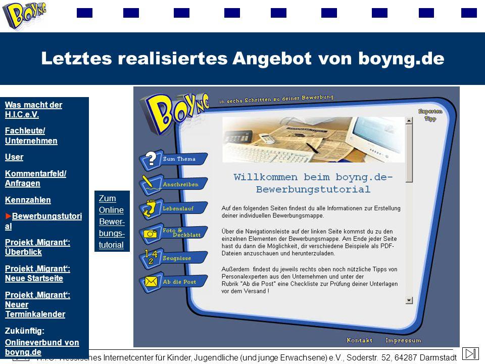 Letztes realisiertes Angebot von boyng.de