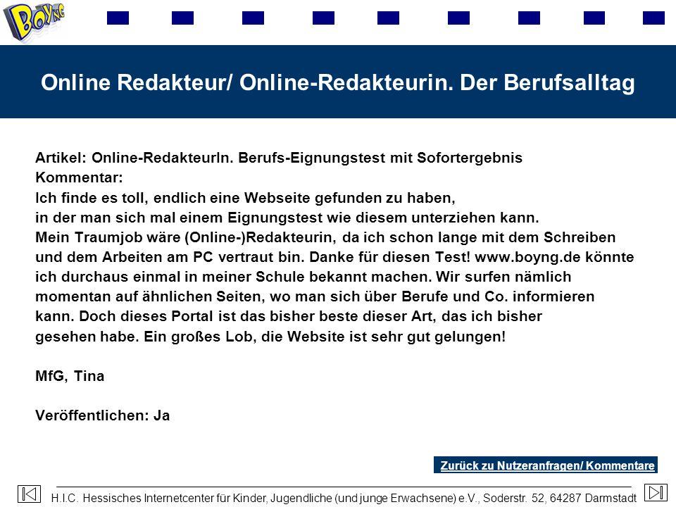 Online Redakteur/ Online-Redakteurin. Der Berufsalltag