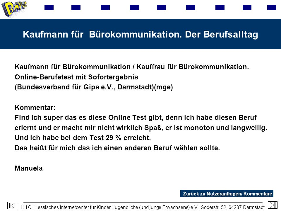Kaufmann für Bürokommunikation. Der Berufsalltag