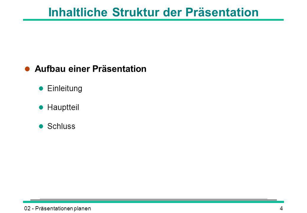 Inhaltliche Struktur der Präsentation
