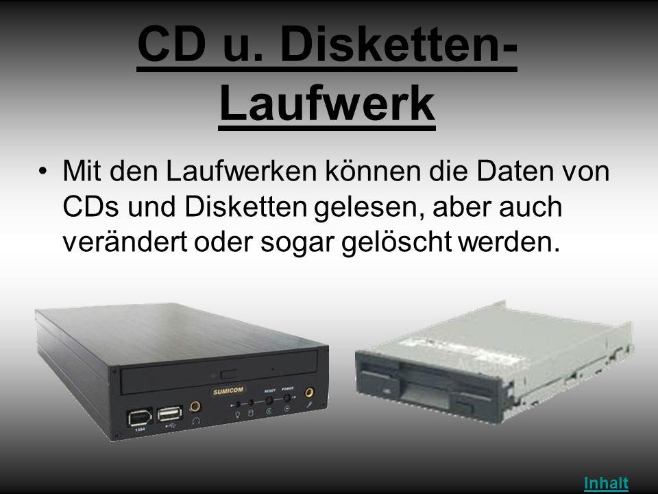 CD u. Disketten-Laufwerk