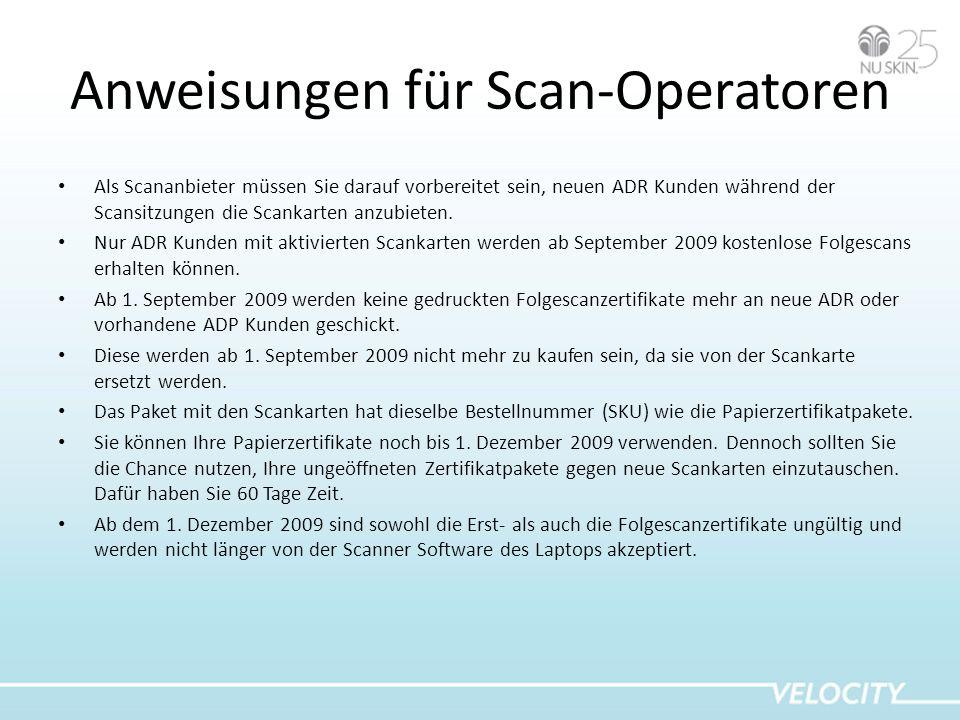 Anweisungen für Scan-Operatoren