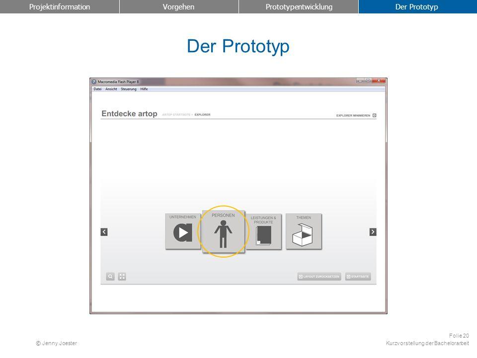Projektinformation Vorgehen Prototypentwicklung Der Prototyp