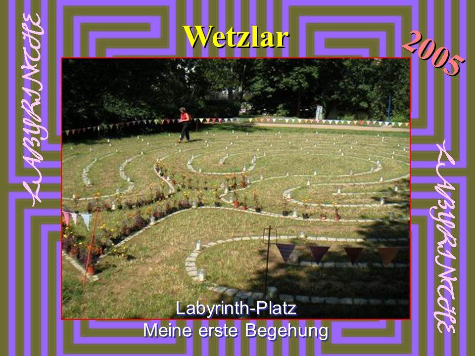 Labyrinth-Platz Meine erste Begehung