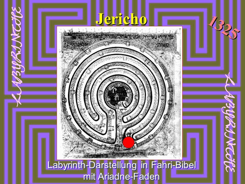 Labyrinth-Darstellung in Fahri-Bibel mit Ariadne-Faden