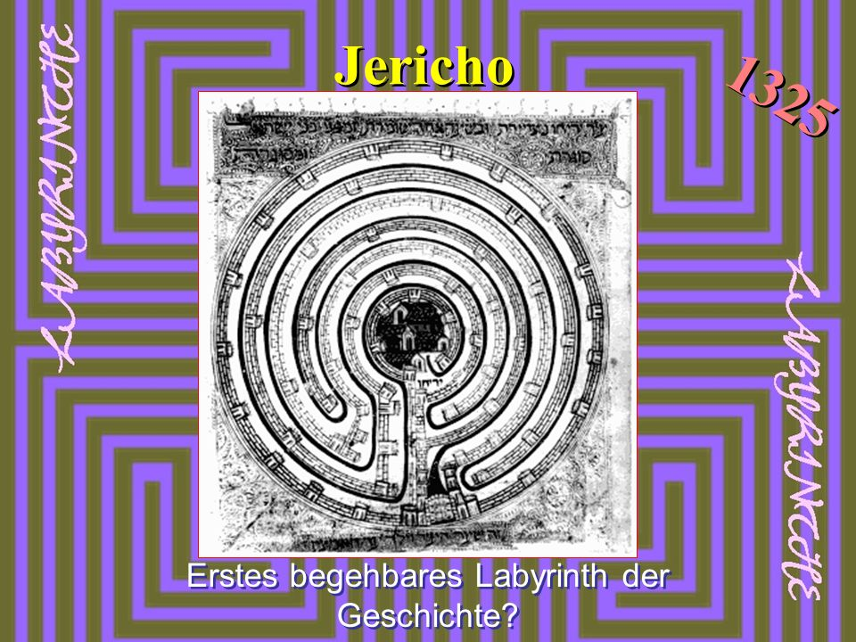 Erstes begehbares Labyrinth der Geschichte