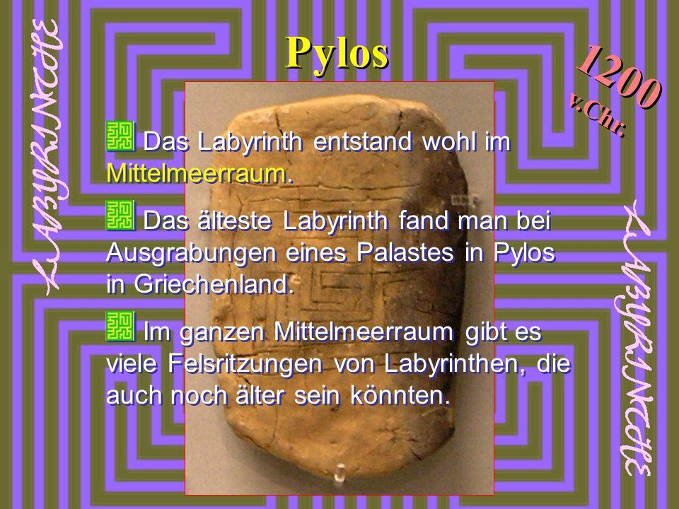 Pylos 1200 v.Chr. Das Labyrinth entstand wohl im Mittelmeerraum.