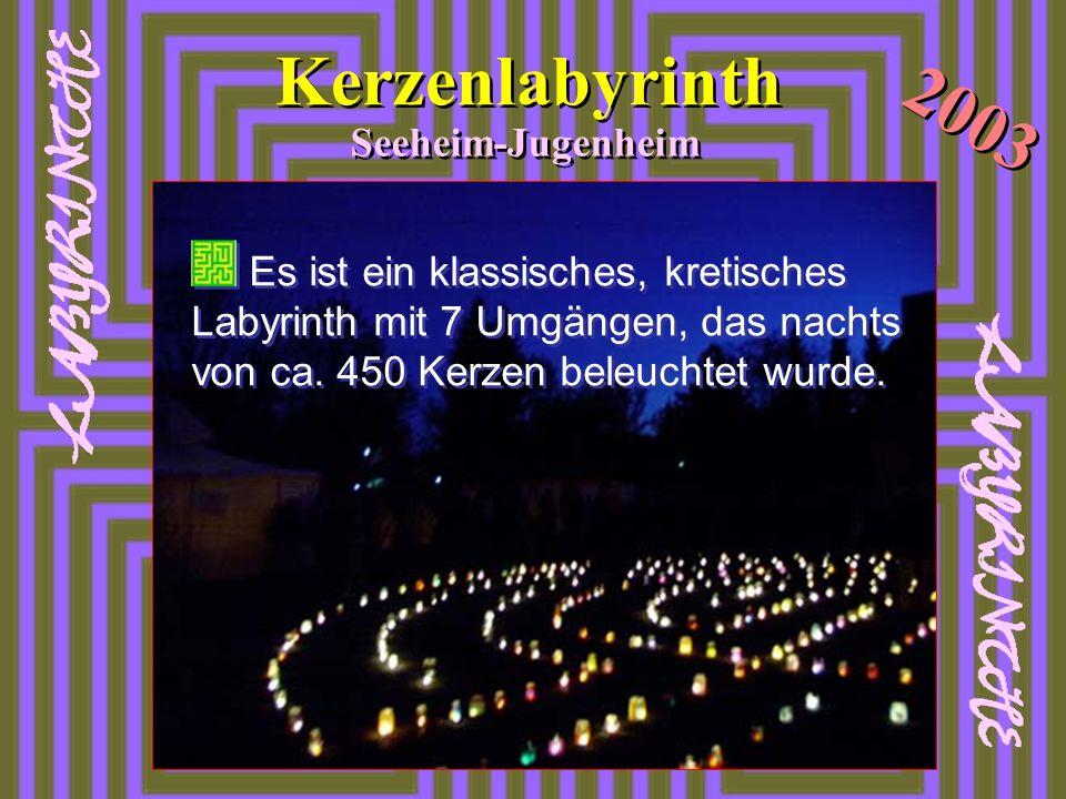 Kerzenlabyrinth 2003 Seeheim-Jugenheim