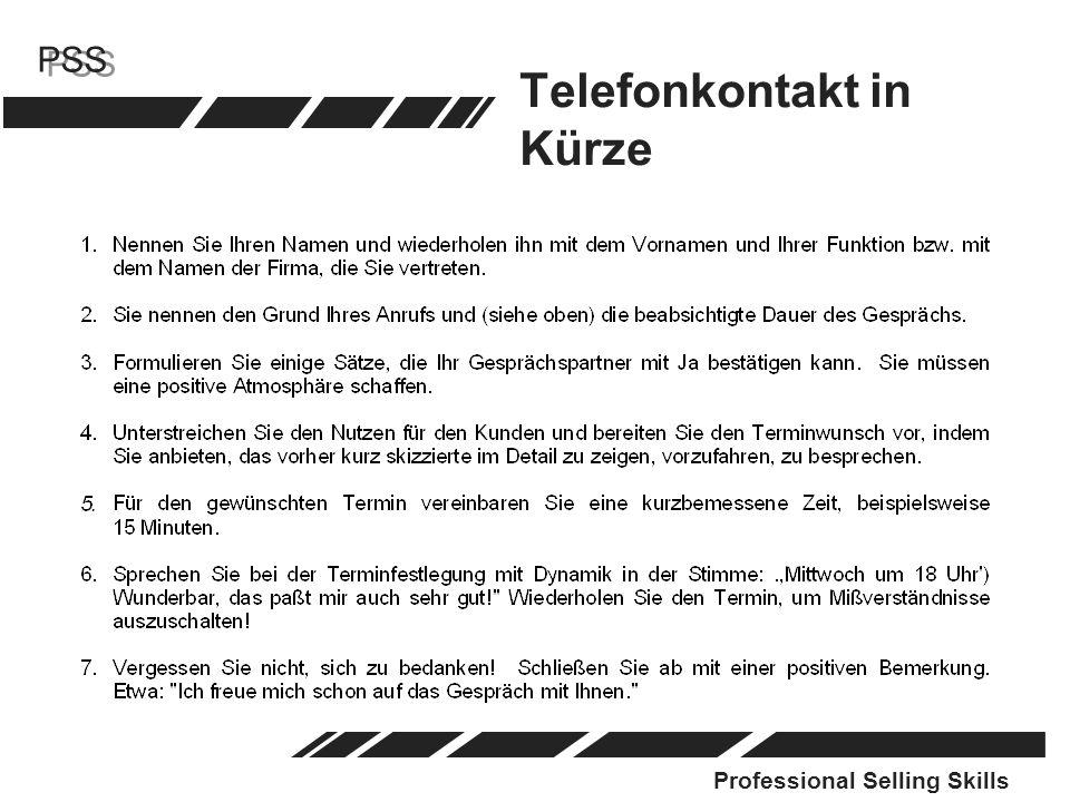 Telefonkontakt in Kürze