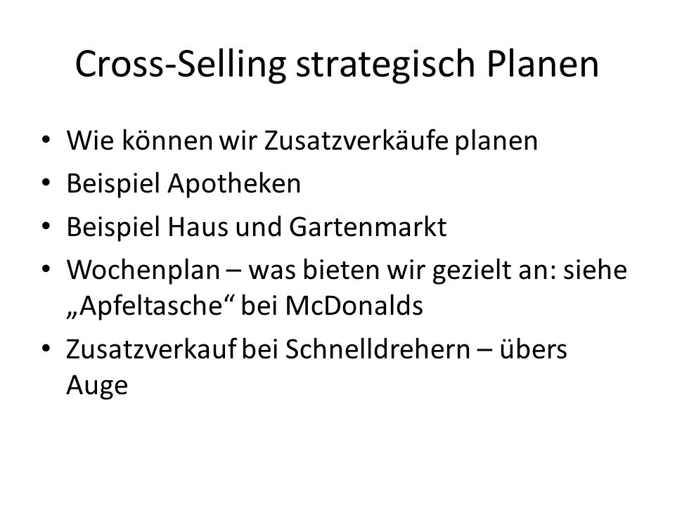 Cross-Selling strategisch Planen